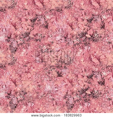 Seamless background texture with vibrant pink makeup powder