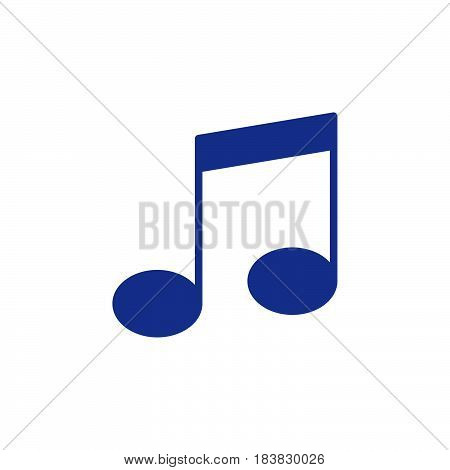 Music note icon vector filled flat sign solid colorful pictogram isolated on white. Symbol logo illustration. Pixel perfect
