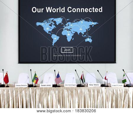 Global communication online community conference press