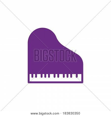 Grand piano icon vector filled flat sign solid colorful pictogram isolated on white. Symbol logo illustration. Pixel perfect