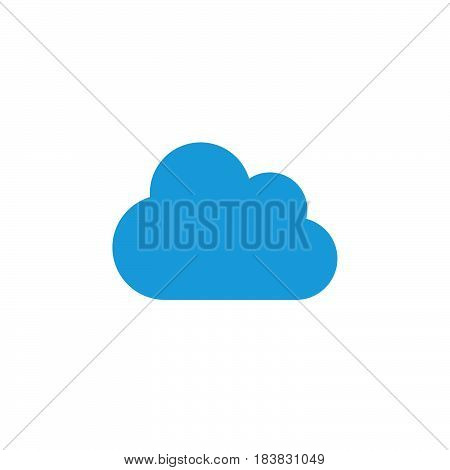 Cloud icon vector filled flat sign solid colorful pictogram isolated on white. Symbol logo illustration. Pixel perfect