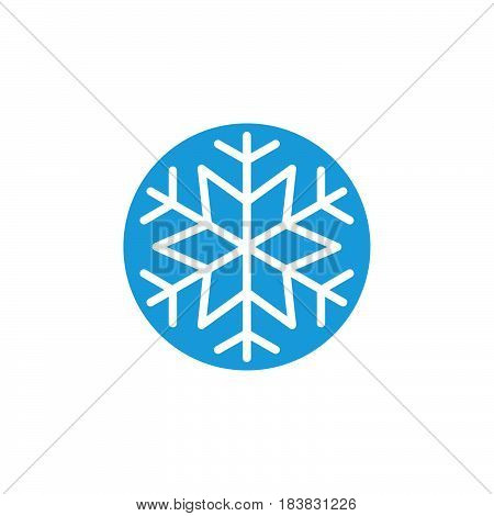 Snowflake freeze icon vector filled flat sign solid colorful pictogram isolated on white. Snow symbol logo illustration. Pixel perfect