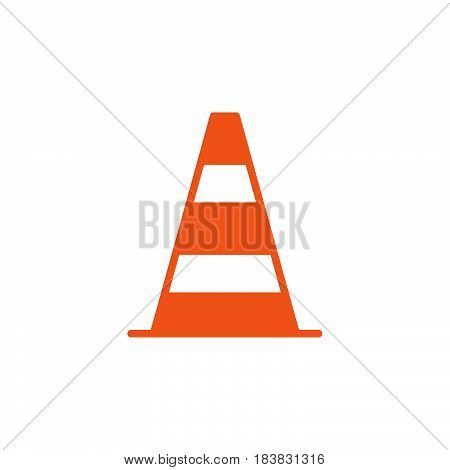 Pylon traffic cone icon vector filled flat sign solid colorful pictogram isolated on white. Symbol logo illustration. Pixel perfect
