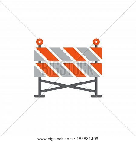 Construction barrier icon vector filled flat sign solid colorful pictogram isolated on white. Symbol logo illustration. Pixel perfect