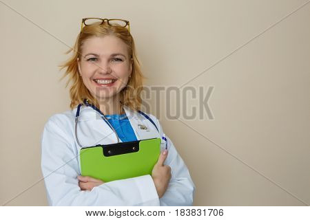 Photo of doctor with phonendoscope