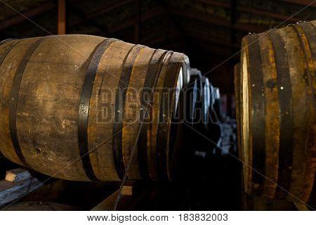 Beer barrel at indoor