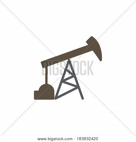 Oil pump icon vector filled flat sign solid colorful pictogram isolated on white. Symbol logo illustration. Pixel perfect