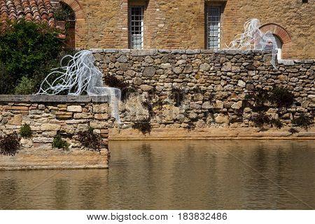 old thermal resort in Tuscany - Bagno Vignoni. Italy