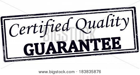 Stamp with text certified quality guarantee inside vector illustration
