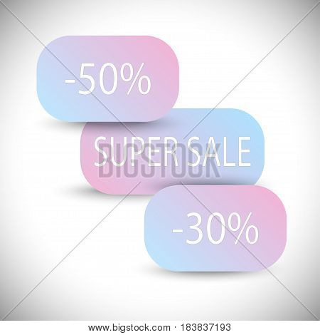 sale banner design. Creative discount poster, special offer tag.