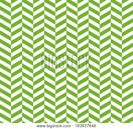 Seamless green herringbone pattern. Vector backdrop for twill fabric. Fresh greenery color of the year 2017