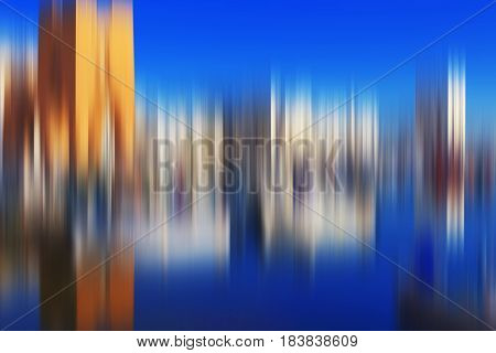 Psychedelic background based on blured architecture image looks like painting