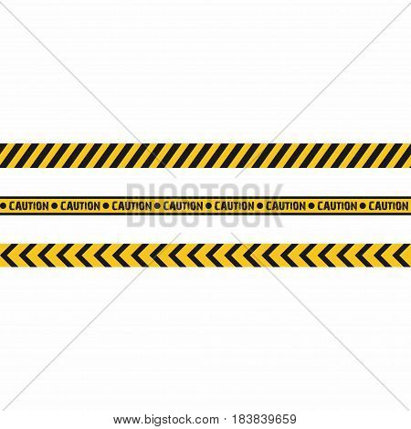 Warning tapes. Seamless hazard stripes texture. Vector