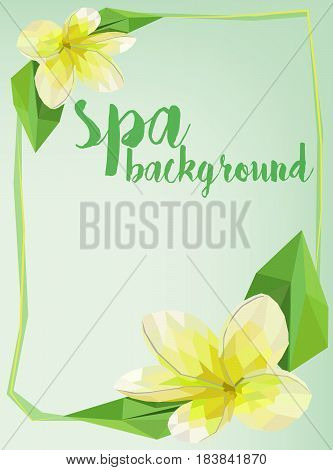 Vector spa background concept art . .