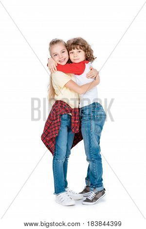 Two Little Friends Embracing