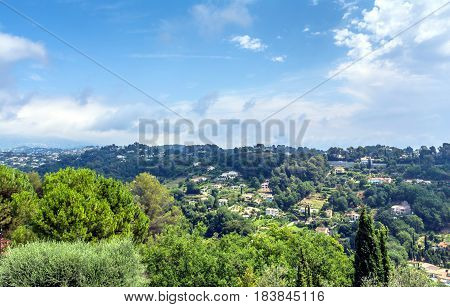 panoramic view in Saint Paul de Vence Provence France