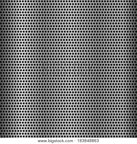 Metal grid seamless background steel vector doted pattern carbon iron grey black
