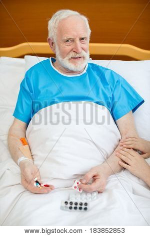 Senior Man With Pills