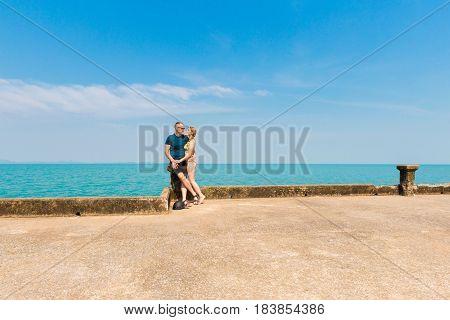 Young Couple During Honeymoon
