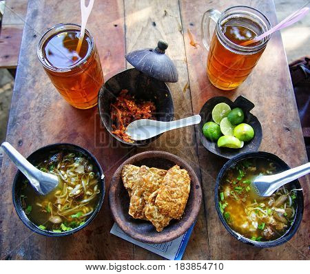 Soto is a traditional Indonesian soup with a wide range of variations
