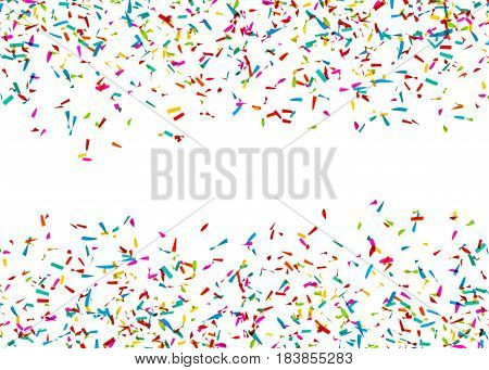 Colorful Confetti in Front of a White Background