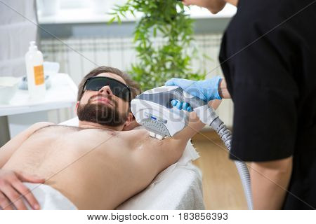 Armpit Laser Epilation At Beautician's