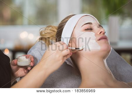 Woman Getting Enzymatic Peeling At Beautician's