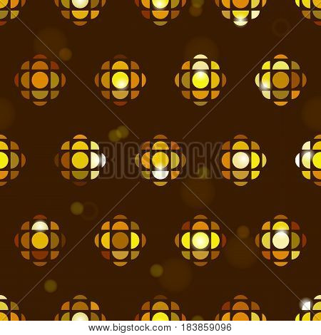Vintague wrapping paper in 80s style. Endless vector texture for wallpaper, wrapping paper, background, surface texture, pattern fill