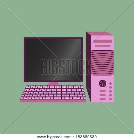 Technology gadget in flat design computer technology