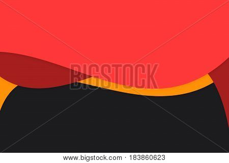 kid abstract red shape presentation with copy space