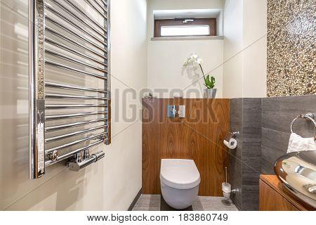 Functional Bathroom With Toilet