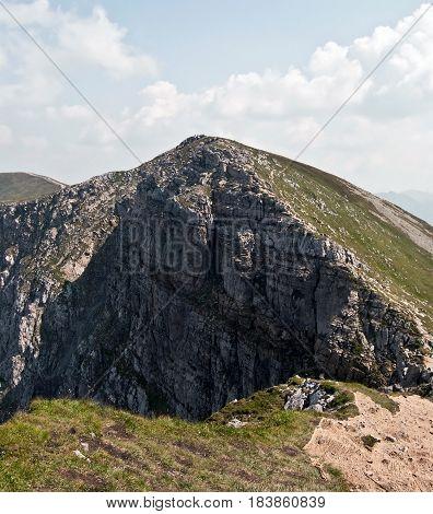 dolomitian Krzesanica (Kresanica peak) - highest peak of Czarwone Wierchy mountain group in Western Tatras mountains on polish - slovakian borders