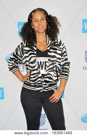 Alicia Keys at the WE Day California 2017 held at the Forum in Inglewood, USA on April 27, 2017.