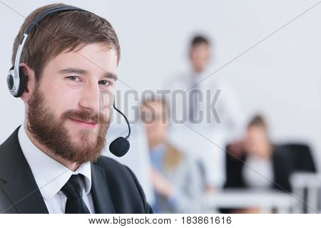Telesales Operator With Headset