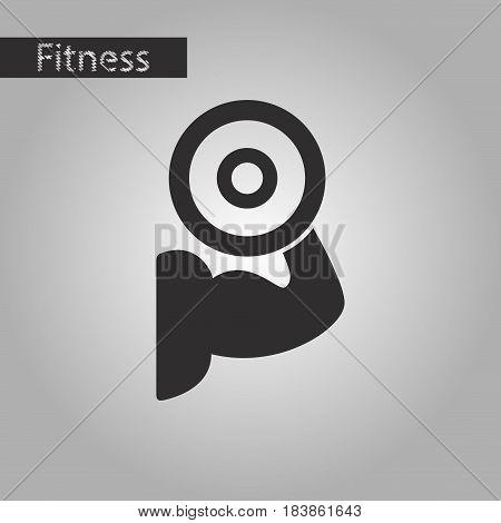 black and white style icon Logo bicep