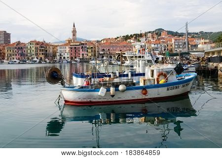 Several Fishing Boats Are Moored.