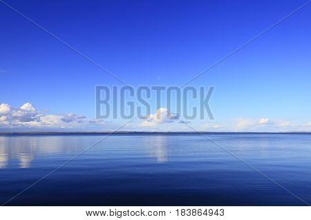 Blue Sky Over Lake