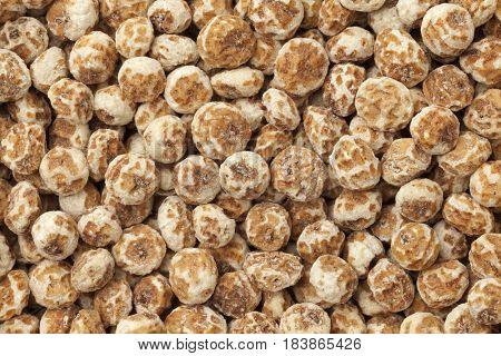 Shelled chufa nuts full frame