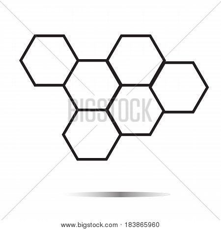 honeycomb honey icon on white background. honeycomb honey sign.