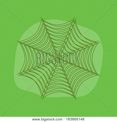 paper sticker on stylish background of spider web