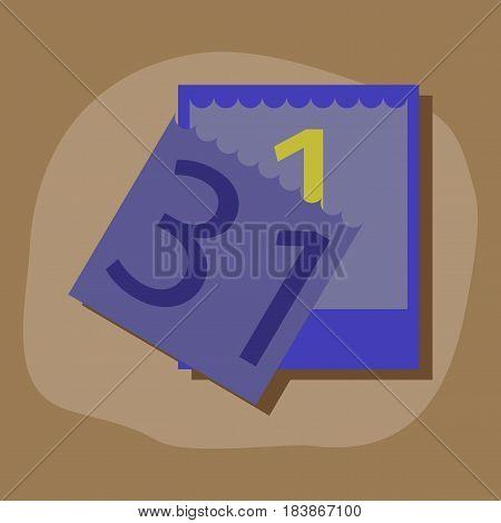 paper sticker on stylish background of tear-off calendar