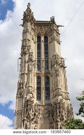 The Saint Jacques Tower in Paris, France