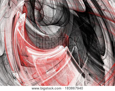 Abstract Grunge Dirty Red Background On White Backdrop