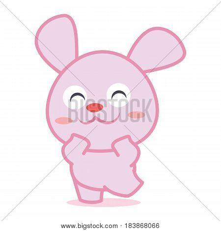 Happy rabbit cartoon collection stock vector illustration