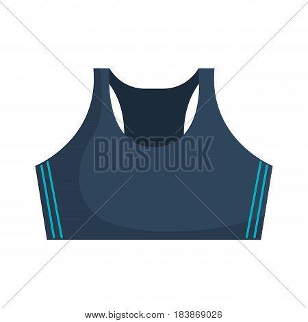 shirt female gym wear vector illustration design