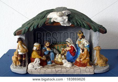DONJA KUPCINA, CROATIA - NOVEMBER 14: Nativity Scene in Parish Church of Saint Mary Magdalene in Donja Kupcina, Croatia on November 14, 2010.