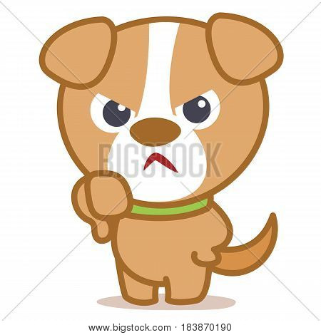 Angry dog cartoon vector illustration collection stock