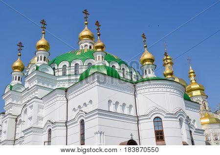 Kiev Ukraine - June 6 2013: Dormition Church at Pechersk Lavra orthodox monastery
