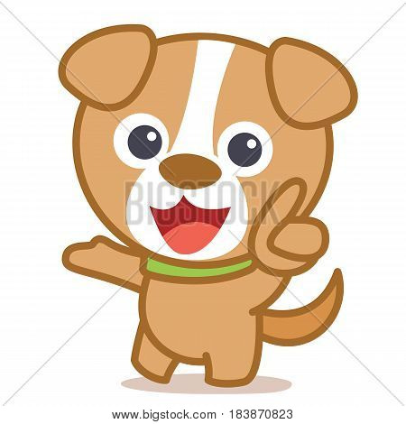 Funny dog cartoon vector art collection stock