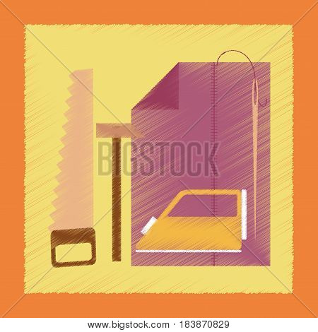 flat shading style icon school work lesson